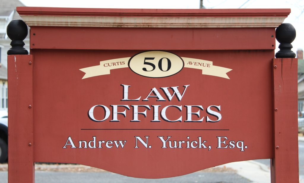 Law Offices of Andrew N Yurick Sign